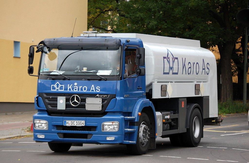 Karo As mb axor 1829 tanklaster der fa karo as 21 09 10 berlin