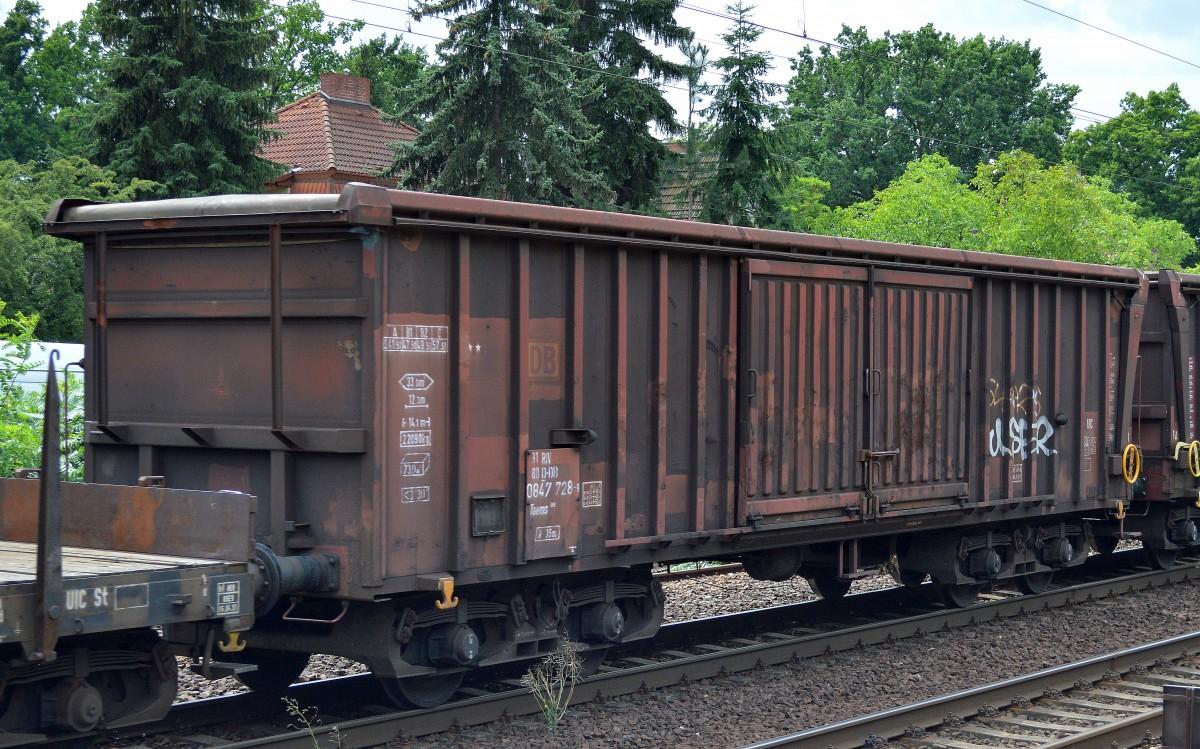 Drehgestellwagen mit Rolldach der DB mit der Nr. 31 RIV 80 D-DB 0847 ...