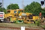 Diverse Typen/94199/universalschotterplaniermaschine-pt-usp-2000-sws-der Universalschotterplaniermaschine P&T USP 2000 SWS der JumboTec GmbH am 13.05.08 Berlin-Blankenburg.