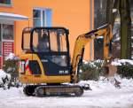 caterpillar-cat/83797/minibagger-cat-3018c-080110-berlin-knobelsdorffstr Minibagger CAT 301.8C, 08.01.10 Berlin-Knobelsdorffstr.