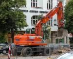 FK - FIAT KOBELCO/83712/hkl-leasingbaumaschine-mobilbagger-fk-e175w-290509-berlin-kaiserdamm HKL-Leasingbaumaschine Mobilbagger FK E175W, 29.05.09 Berlin-Kaiserdamm.