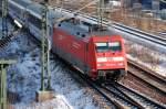 BR 101/179374/101-103-0-transportiert-die-berlin-warschau-express-zuggarnitur 101 103-0 transportiert die Berlin-Warschau-Express Zuggarnitur nach Berlin-Grunewald, 06.02.12 Berlin-Putlitzbrücke.