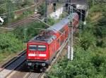 BR 112/94737/re4-mit-112-119-3-als-schiebelok RE4 mit 112 119-3 als Schiebelok Richtung Ludwigsfelde, nächster Halt Berlin Hbf.(tief), 15.09.10 Berlin-Westhafen.