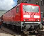BR 143/95054/bei-der-lokparade-zum-100-jaehrigen Bei der Lokparade zum 100 jährigen Jubiläum (Tag der offenen Tür) des Werks in Hennigsdorf, jetzt Bombardier-Werke, 143 002-4 die 1984 bei LEW in Hennigsdorf gebaut wurde, 18.09.10