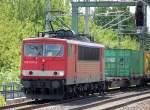 BR 155/79798/155-007-8-unterwegs-mit-einem-cotainerzug 155 007-8 unterwegs mit einem Cotainerzug Richtung Karower Kreuz Berlin, 26.06.10 Berlin-Blankenburg.
