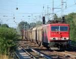 BR 155/92537/155-096-1-mit-ganzzug-schiebewandwagen-richtung 155 096-1 mit Ganzzug Schiebewandwagen Richtung Karower Kreuz Berlin, 17.06.10 Berlin-Karow.