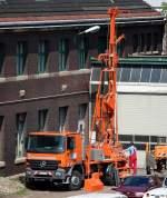Sonderaufbauten/107129/ein-mb-actros-mit-spezialaufbau-eines Ein MB ACTROS mit Spezialaufbau eines Bohrsystems der Fa. VORMANN & PARTNER am 19.05.09 Berliner Westhafen.
