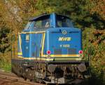 BR 213/80678/mwb-v-1353-92-80-1213 MWB V 1353 (92 80 1213 338-7 D-MWB, Bj.1966) auf Leerfahrt Richtung Bernau, 08.09.09 Berlin-Karow.