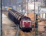 BR 346/120437/wfl-lok-5-98-80-3346 WFL Lok 5 (98 80 3346 674-5 D-WFL, LEW Bj.1970) am 17.12.08 an Gleisen die es aktuell schon längere Zeit nicht mehr gibt am Zementwerk gegenüber dem Berlin Westhafen, 17.12.08