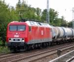 BR 156/81307/meg-801-91-80-6156-001-0 MEG 801 (91 80 6156 001-0 D-MEG, Bj.1991) mit Leerzug Kesselwagen Richtung Schwedt über Bernau, 17.09.08 Berlin-Karow.