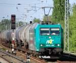 BR 185.5/82186/r4c-alpha-trains-leasinglok-185-cl-006 R4C Alpha Trains Leasinglok 185-CL 006 (91 80 6185 506-3 D-VCD, Bj.2001) im Sommer 2008 mit Kesselwagenzug Richtung Karower Kreuz Berlin.