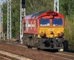 diverse-loks/91548/cbrail-lok-hgk-de-64-92 CBRail Lok HGK DE 64 (92 80 1266 064-5 D-HGK, GM-EMD Bj.2001) am 19.08.09 Richtung Bernau gesichtet in Berlin-Karow.