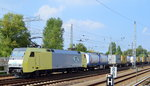 ITL 152 197-0 mit Containerzug am 09.09.16 Berlin-Springpfuhl.