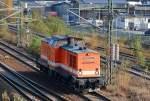 Diverse Loks/166285/locon-202-98-80-3201-222-7 LOCON 202 (98 80 3201 222-7 D-LOCON) Richtung Berlin-Spandau, 02.11.11 Berlin-Putlitzbrücke.