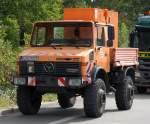 Diverse Baufahrzeuge fur Strase und Schienen/108209/ein-mb-unimog-1700-der-baufirma EIN MB UNIMOG 1700 der Baufirma STRABAG am 30.08.09 Nähe Berliner Westhafen.